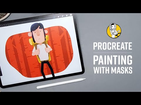 Procreate 5 Tutorial - Masks and Clipping Masks