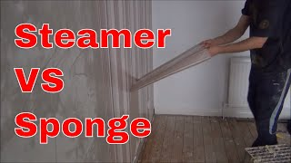 Removing Wallpaper: Steamer Vs Sponge