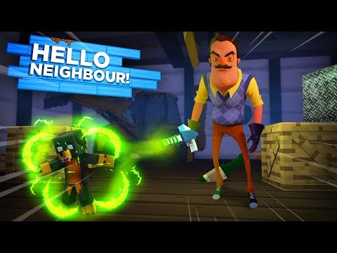 Minecraft HELLO NEIGHBOR - THE NEIGHBOR HAS SHRUNK DONUT THE DOG & TRAPPED HIM IN HIS BASEMENT!!