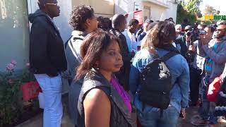 MAROC/TRAITE NÉGRIÈRE DU 21me SIÈCLE /MANIFESTATION DEVANT L'AMBASSADE DE LA LIBYE