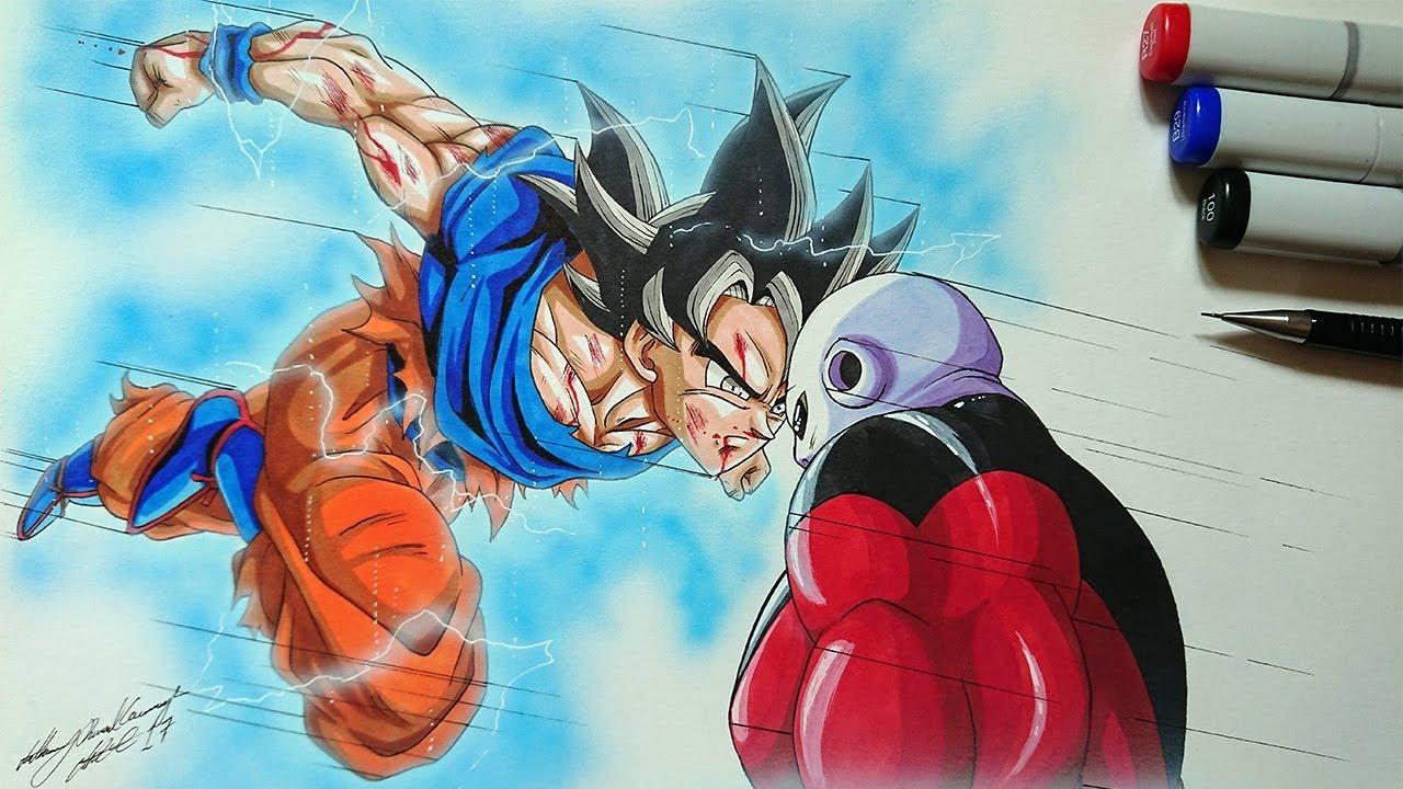 Drawing goku vs jiren ultra instinct dragonball super youtube - Goku ultra instinct sketch ...