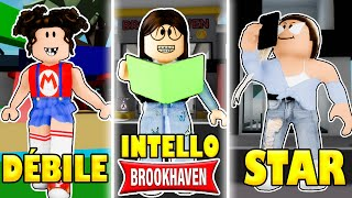 DÉBILE VS INTELLO VS STAR SUR BROOK HAVEN ! | ROBLOX BROOKHAVEN RP