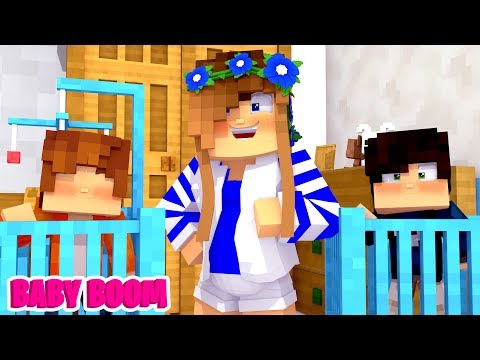 MAKING BABY BEDROOM'S FOR LITTLE CARLY'S TWINS! (Minecraft).