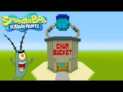 "Minecraft Tutorial: How To Make The Chum Bucket ""Spongebob Squarepants"""