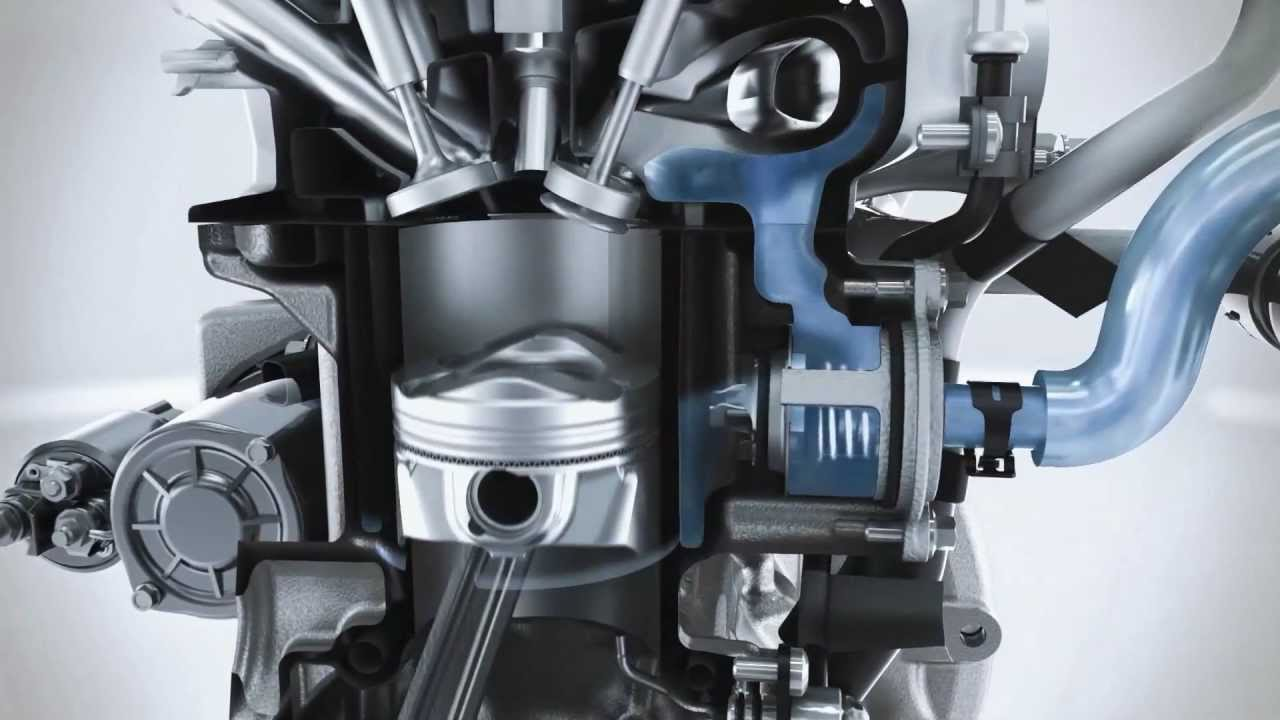 ford ecoboost engine 125ps - animation