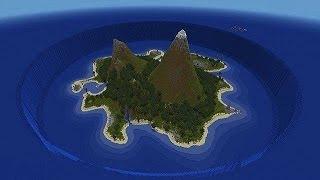 Прохождение карты Затонувший остров в Майнкрафт#1