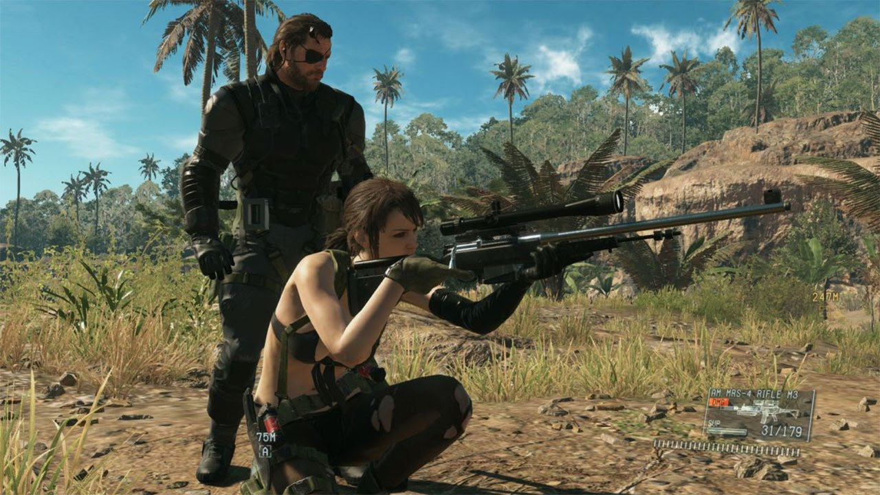 60 FPS Metal Gear Solid 5 The Phantom Pain Quiet Jungle Gameplay