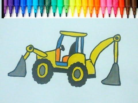 Kepce Boyama L How To Draw Digger L Cocuklar Icin Eglenceli Boyama