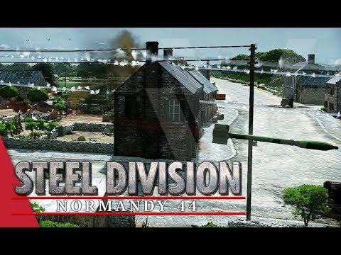 Rockets Everywhere! Steel Division: Normandy 44 Gameplay (Colleville, 2v2)