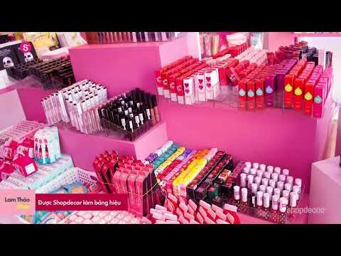 Shop mỹ phẩm Lam Thảo Comestic được Shopdecor thiết kế và thi công trọn gói!