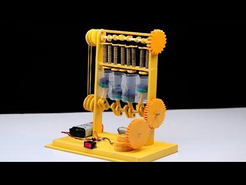 How to make Cylinder Engine DIY model at home