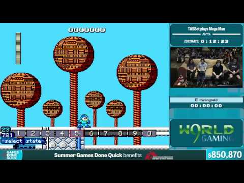 TASBot plays Mega Man by Various Runners in 12:23 - Summer Games Done Quick 2015 - Part 151