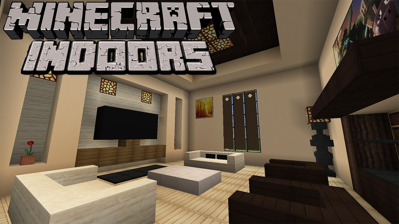 Minecraft Indoors - Contemporary Living Room (S2E1) - YouTube