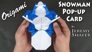Origami Snowman Pop-up Card