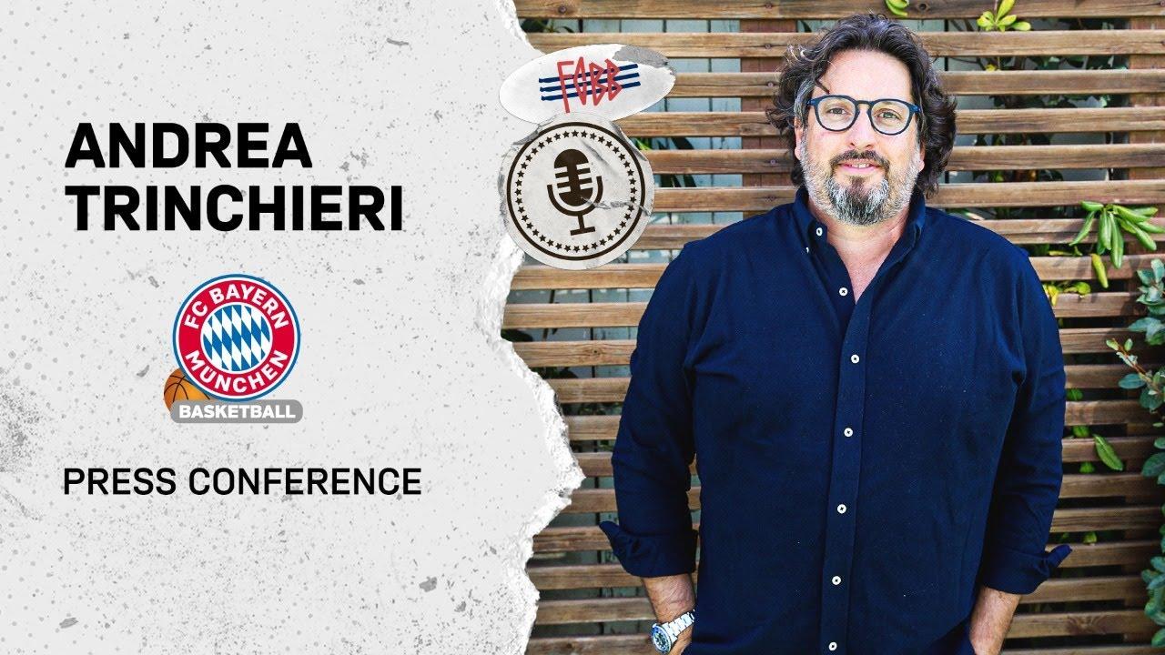 Auftakt-Pressekonferenz mit dem neuen FC Bayern Basketball Head Coach Andrea Trinchieri