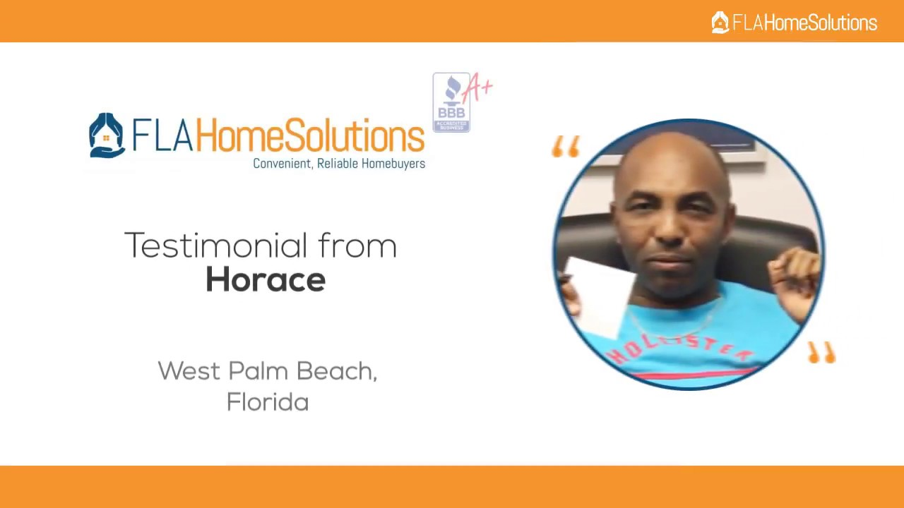 Visit www.FLAHomeSolutions.com or Call 305-602-4105 -Horace's Testimonial for Creative RE-Solutions