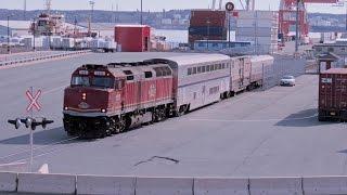 CN Test Train #998 & 999 with CN2197 105 Amtrak Sleeper & 2 Test Cars Halifax area 26 April 2016