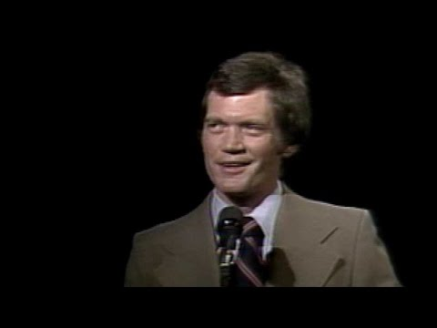 From 1978: David Letterman performs