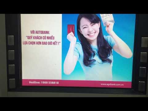 Thẻ bidv rút tiền | chuyển khoản | vấn tin số dư tại ATM agribank