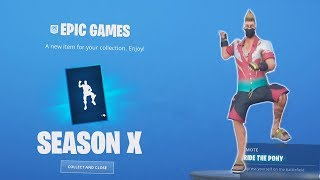 BUYING THE SEASON 10 BATTLE PASS + RIDE THE PONY | FORTNITE