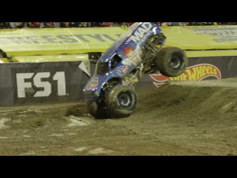 First ever Monster Jam truck front flip 2017 Las Vegas - NEVER BEEN DONE