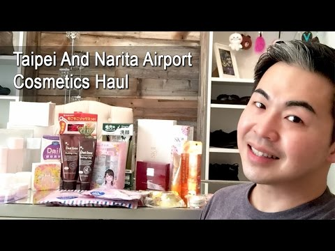 Taipei and Narita Airport Cosmetics Haul