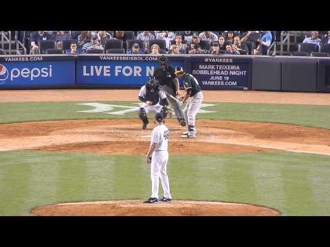 Athletics Kyle Blanks Vs Yankees Matt Thornton 6/4/14 HD
