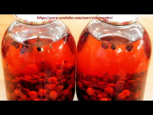 Компот из крыжовника и смородины на зиму / Gooseberries and blackcurrants kompot (Non-alc.beverage)