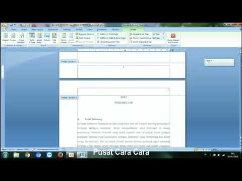 Cara Membuat Nomor Halaman Dengan Posisi Berbeda Pada Satu Dokumen