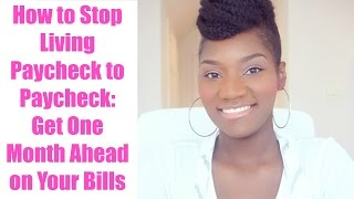 Money Management Monday | How to Stop Living Paycheck to Paycheck