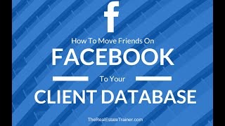 Transfer Facebook Friends to your Client Database CRM(, 2016-01-24T00:16:07.000Z)