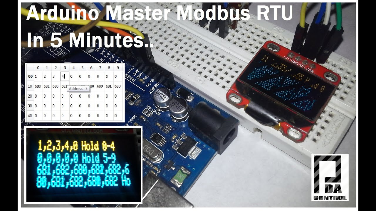 Arduino Master Modbus In 5 Minutes      : PDAControl