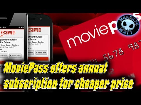 MoviePass offers annual subscription for cheaper price