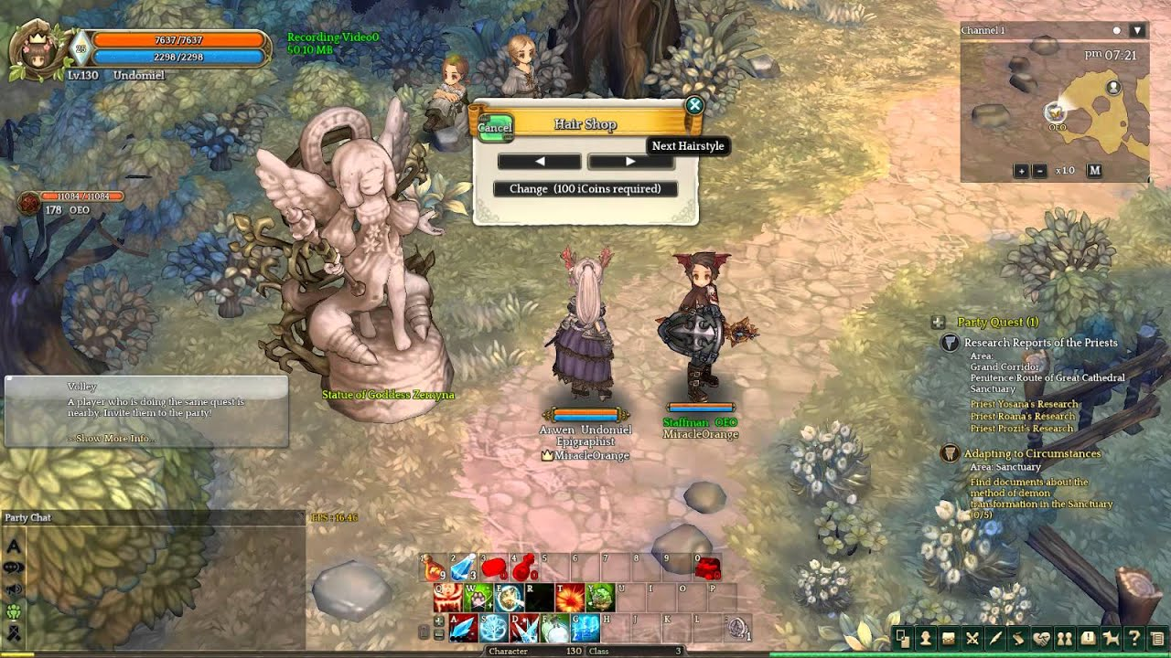 Tree Of Savior Hair Style Shop YouTube - Hairstyle color tree of savior