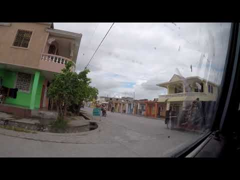 Les Cayes, driving with Samuel and Sonson