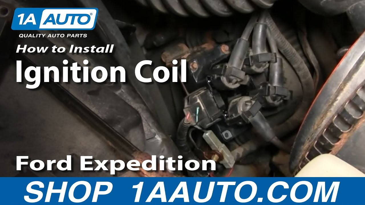 how to install replace ignition coil 2 0l 2 4l 4 6l 5 0l v8 ford rh youtube com 1967 ford ignition coil wiring diagram 2001 ford f150 ignition coil wiring  [ 1280 x 720 Pixel ]