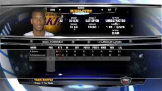 NBA 2k14 - Association - Lakers - Roster