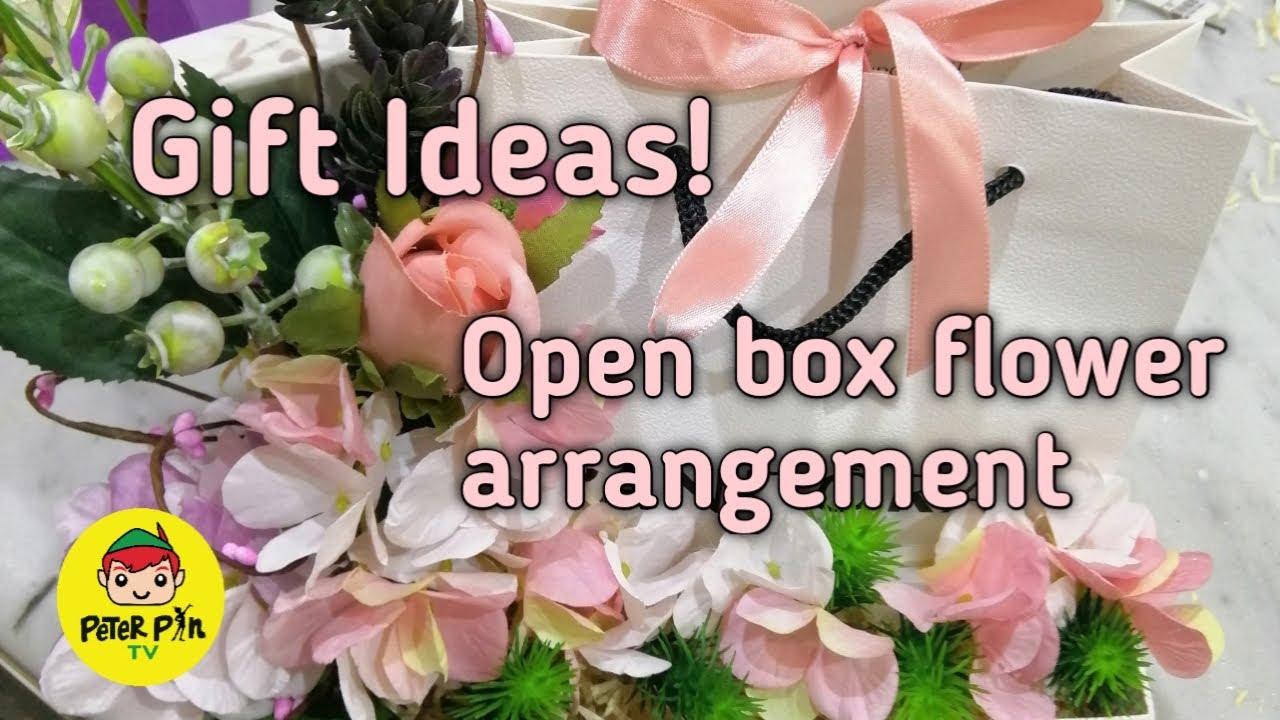 Gift Ideas Open Box Flower Arrangement Peterpan Tv Youtube