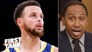 Stephen A. is worried about Steph Curry: 'They're going to put a hat on him!' | First Take