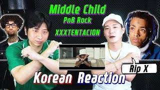 🔥(ENG)/ KOREAN Rappers / react to PNB ROCK ft. xxxtentacion - MIDDLE CHILD🔥