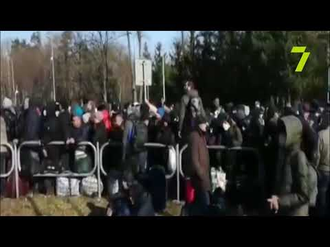 Новости 7 канал Одесса: Украинцы хотят домой: на границе с Польшей образовалась огромная очередь