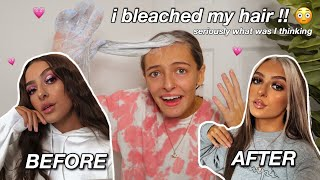 I BLEACHED MY HAIR FOR FUN !! | Amy Menzies