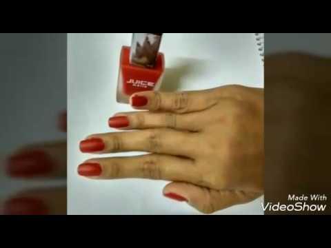 Juice Matte Maroon Nail Paint Review