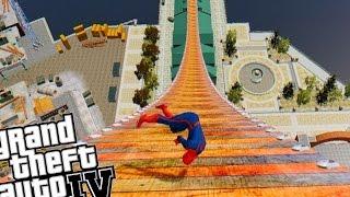 Grand Theft Auto Skate Mod - Funny Spiderman Mega Ramp Fail