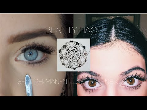 54aaca27b52 Beauty Hack How To DIY Eyelash Extensions - YouTube