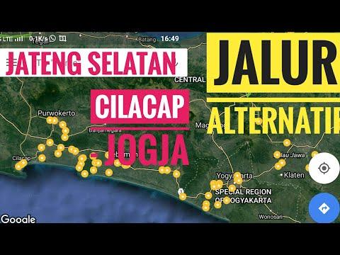 Jalur Alternatif Cilacap Jogja melalui Pantai Ayah Karang Bolong menuju Congot Jogjakarta.