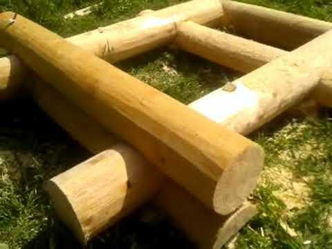 Рубим деревянный сруб колодца