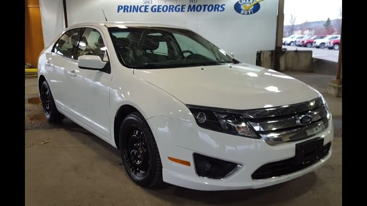 2012 White Ford Fusion Sedan Sel Fwd Preowned Review Prince George Motors