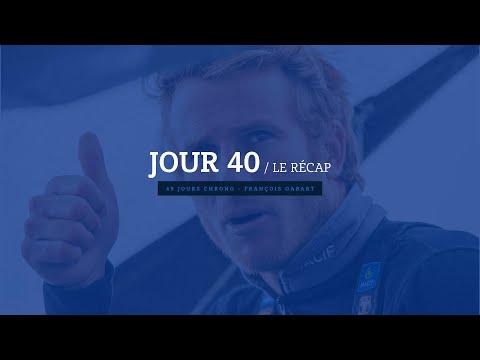 Jour 40 : revivez les 24 dernières heures de François Gabart à bord de son Trimaran MACIF.