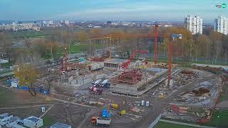 Američka Međunarodna škola u Zagrebu, Time lapse gradilišta